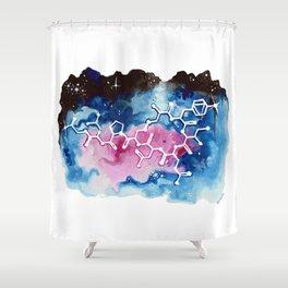Oxytocin Galaxy. Shower Curtain