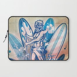 poseidon surfer on surfboard Laptop Sleeve