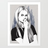 the who Art Prints featuring Who? by Michaela Ramstedt