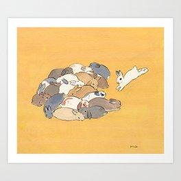 Rabbit Stack Art Print