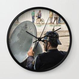 Soubassophone, brass Wall Clock