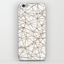 Geometric triangles glitter pattern. Modern stylish texture. Gold trendy glitter print background iPhone Skin