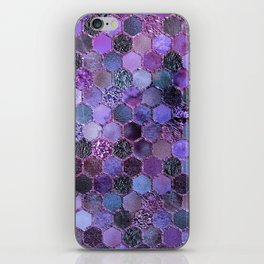 Purple geometric hexagonal elegant & luxury pattern iPhone Skin