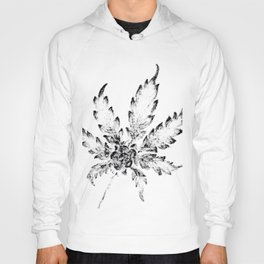 Black & White (Cannabis Resin Leaf) Hoody
