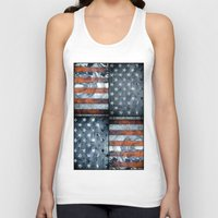 american flag Tank Tops featuring American flag by Bekim ART