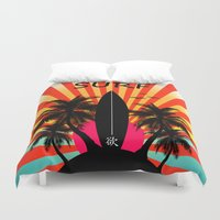 surf Duvet Covers featuring Surf by mark ashkenazi