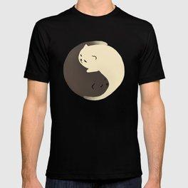 Hidden cat 9 Yin Yang kitty T-shirt