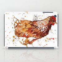 chicken iPad Cases featuring Chicken by libby's art studio
