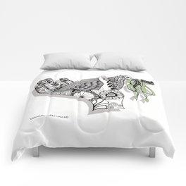 Zentangle Illustration - Peace Dove  Comforters
