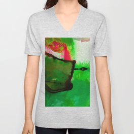 Abstract Bliss 4Q by Kathy Morton Stanion Unisex V-Neck