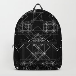 Sacred geometry art, Black and white occult Backpack