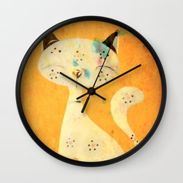 Artistic pussycat with a long tail. Wall Clock