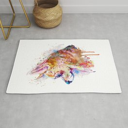 Watercolor Chihuahua Rug