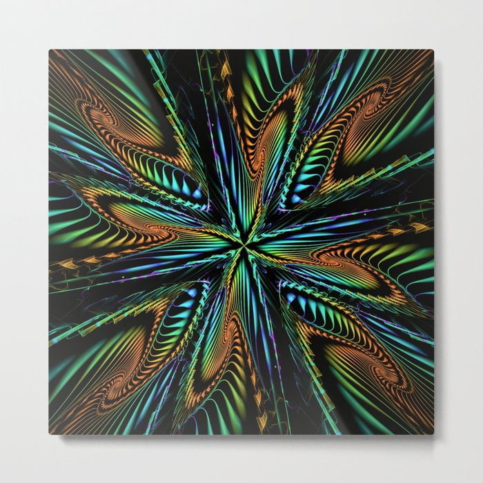 Prismatic Cross Metal Print