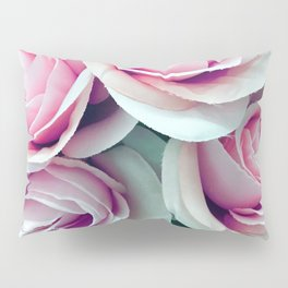 'La Vie Est Belle' (Life is Beautiful) Pink Roses Pillow Sham