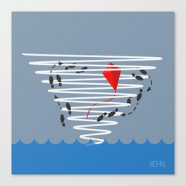 Kite Dancing in a Hurricane  Canvas Print
