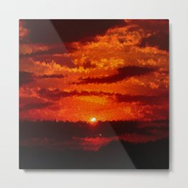 Ellipsionistic Sunset Metal Print