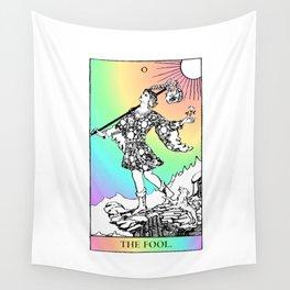 0. The Fool- Pastel Rainbow Tarot Wall Tapestry