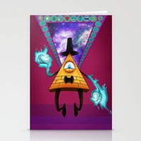 bill cipher Stationery Cards featuring Dream Demon - Bill Cipher by AtomicDNA
