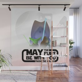 Frod0 the Sheltie: May the Furs be With You (transparent) Wall Mural