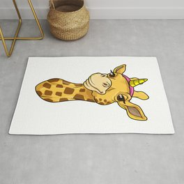 Giraffe as Unicorn Rug