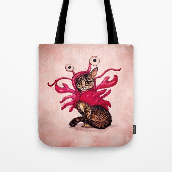 Ma'ama Lisa ~ Lobster Cat Tote Bag