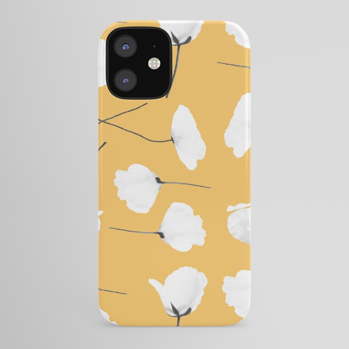 Poppies on mustard iPhone Case