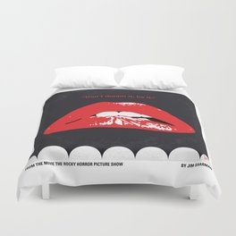 No153 My The Rocky Horror Picture Show minimal movie poster Duvet Cover