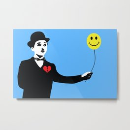 Silent Prodigy - Charlie Chaplin Metal Print