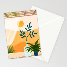 Sunset Desert Patio Stationery Cards
