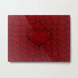 Sangria Hearts Metal Print