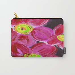 Fuchsia Floral Carry-All Pouch