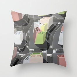 Inside-out - urban living Throw Pillow