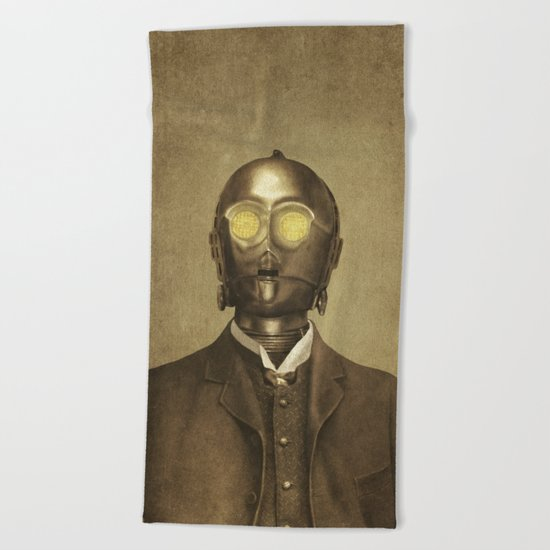 Baron Von Three PO  Beach Towel