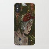 princess mononoke iPhone & iPod Cases featuring mononoke by Devon Busby Busbyart