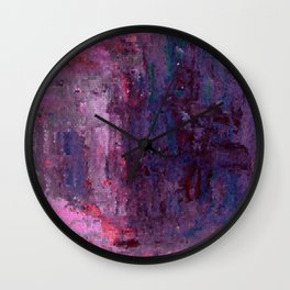 Abstract Color Dot Explosion Wall Clock