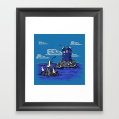 The Seagulls have the Phonebox Framed Art Print