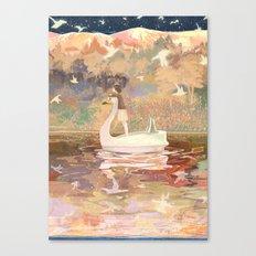 Swan boat Canvas Print