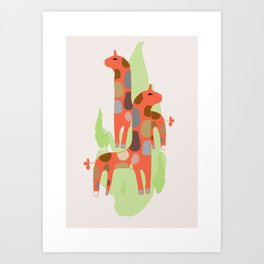 Giraffes kids decor nursery Art Print