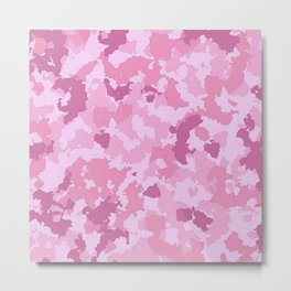 Camouflage Pink Metal Print