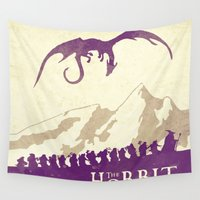 hobbit Wall Tapestries featuring The Hobbit by WatercolorGirlArt