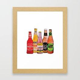 Bottles of Craft Beer Framed Art Print