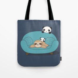 Kawaii Panda and Sloth Tote Bag