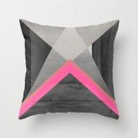 pyramid Throw Pillows featuring pyramid by Georgiana Paraschiv