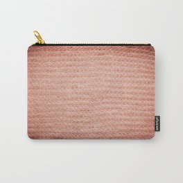 Sepia fuzzy knitted fabric texture abstract Carry-All Pouch