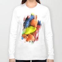 chocolate Long Sleeve T-shirts featuring chocolate by Gisela Méndez Martínez