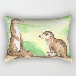 Meerkat Parents Rectangular Pillow
