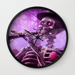 """""""Move your body!"""" - The musician skeleton Wall Clock"""