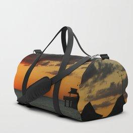 Naples Pier Sunset Duffle Bag