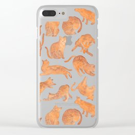 Cat Poses Clear iPhone Case